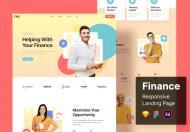 财务响应式网页设计模板