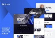 Aivons-商业咨询网页设计PSD模板