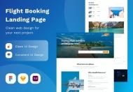 航班预订着陆页网站设计模板