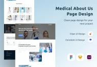 医疗关于我们网站页面设计模板