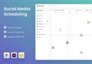 社交媒体调度应用程序 UI 模板