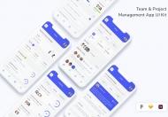 团队和项目管理应用程序 UI 套件