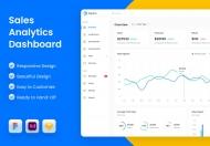 销售分析仪表板 UI 模板