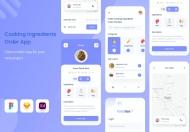 Uixasset-烹饪配料应用app设计模板