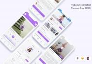 瑜伽和冥想课程应用 UI 套件