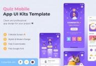 测验App UI 套件模板