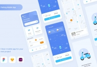 Uixasset-停车App UI 套件模板