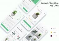 仙人掌和植物商店应用程序 UI 套件