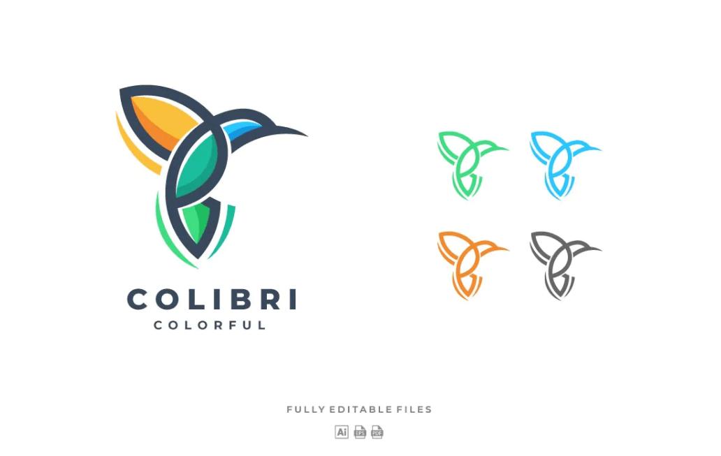 Colibri色线徽标