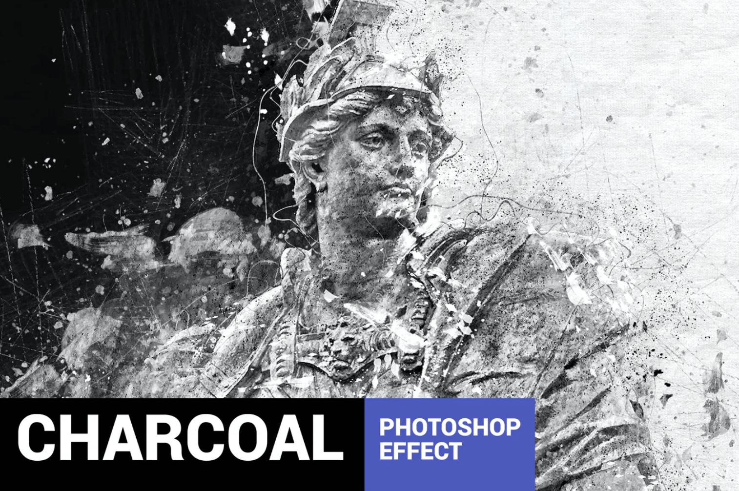 Graphitum-木炭素描Photoshop动作