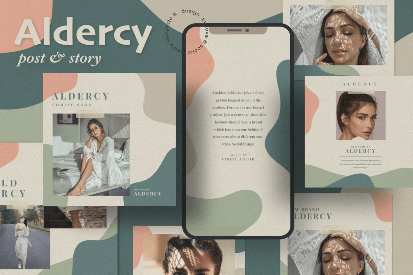 Aldercy Post社交媒体ui界面设计模板