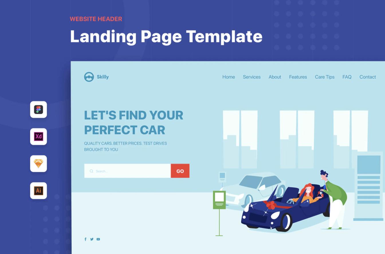 车行-标题网页模板