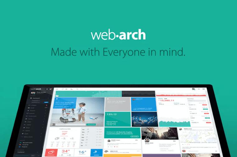 Webarch-响应式管理仪表板模板