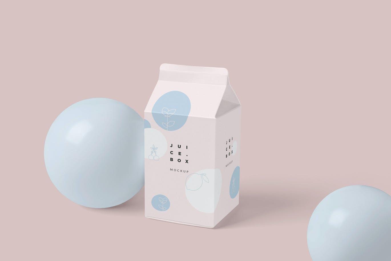 小果汁/牛奶包装盒样机展示模型下载