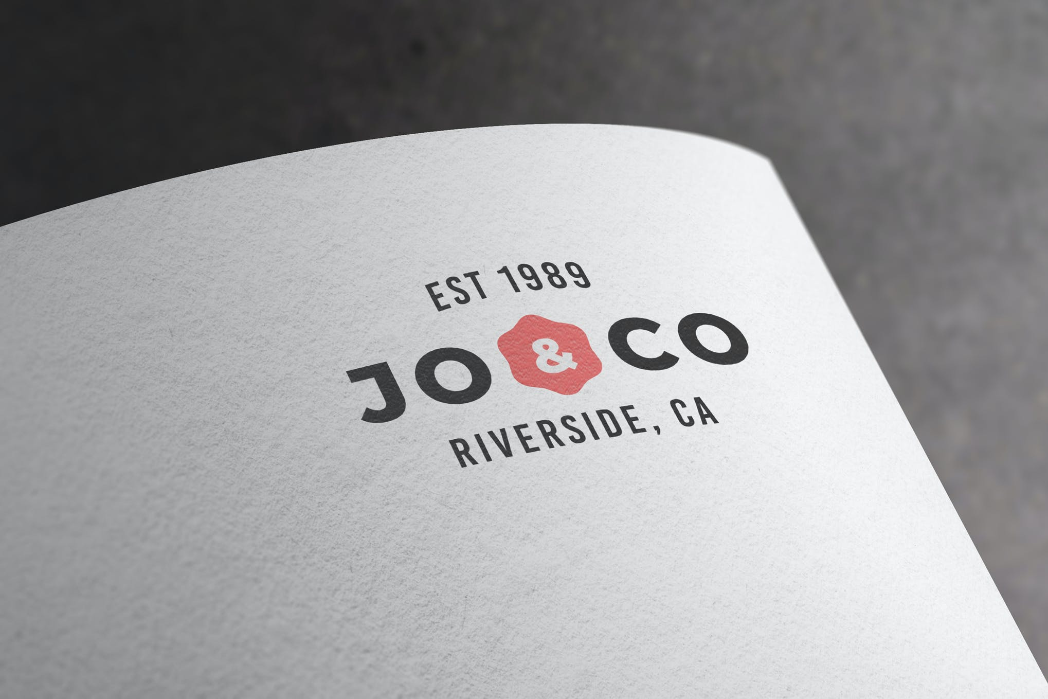 纸质印刷徽标样机展示模板下载