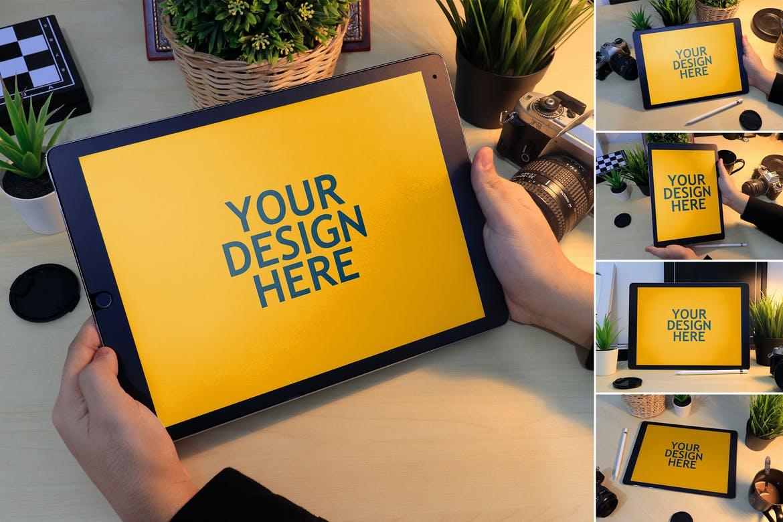 Ipad Pro 12,9-现实模型平板样机展示