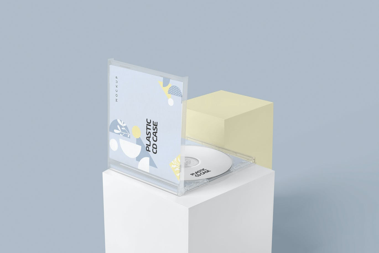 塑料CD和唱片盒样机模板下载