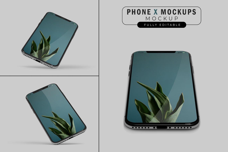 iPhone X样机苹果手机样机展示下载
