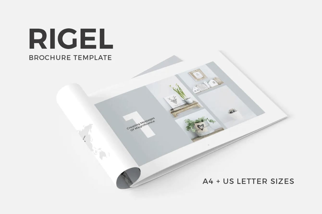 里格尔宣传册简约模板