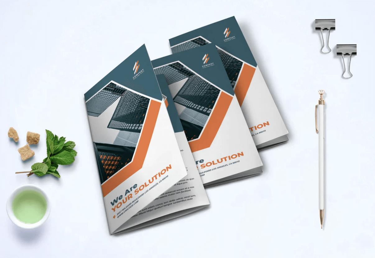 企业宣传商业手册三析页