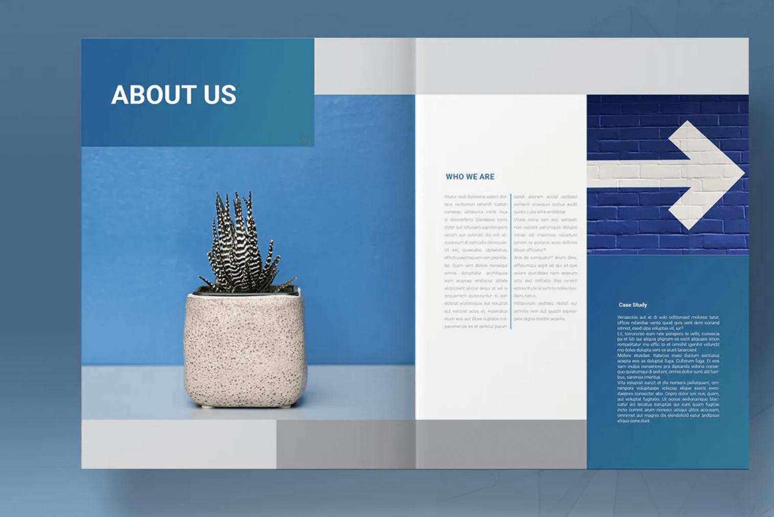 蓝色生活手册模板
