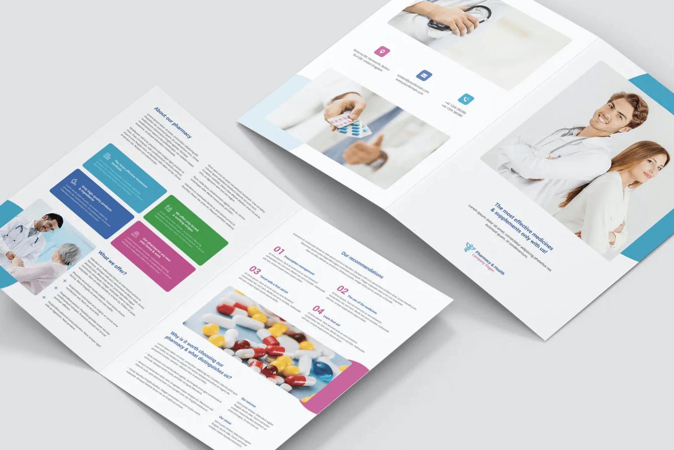 医疗手册–药房两折页