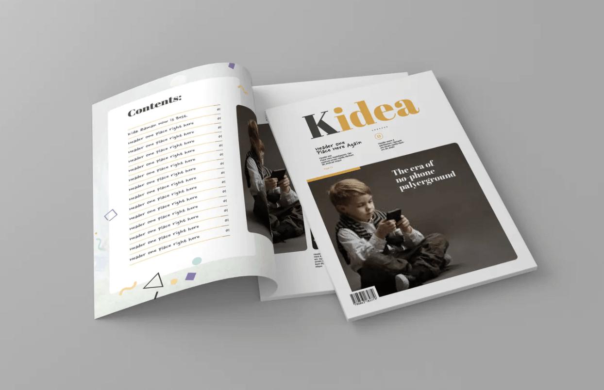 Kidea-杂志模板下载