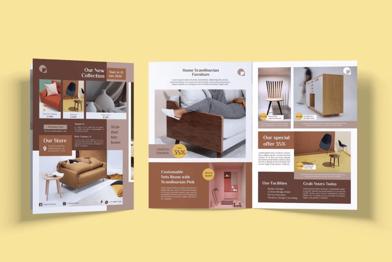 家具和室内折叠宣传小册子