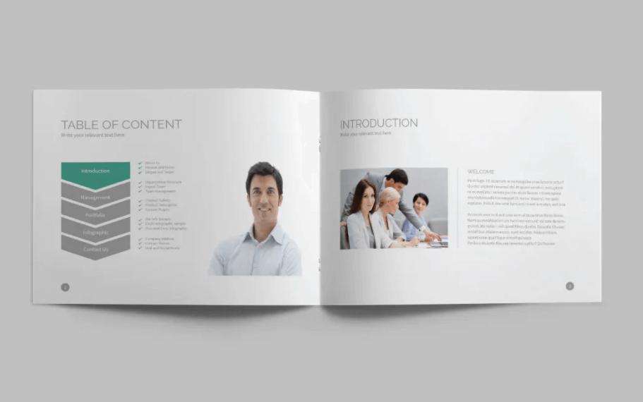 终极手册A5景观InDesign手册模板