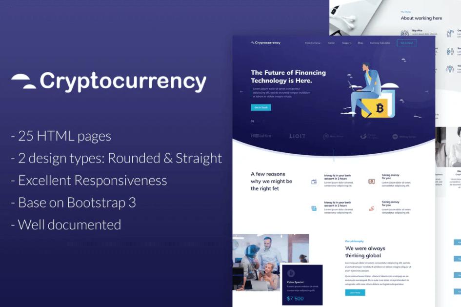 CryptoCurrency-金融货币HTML模板