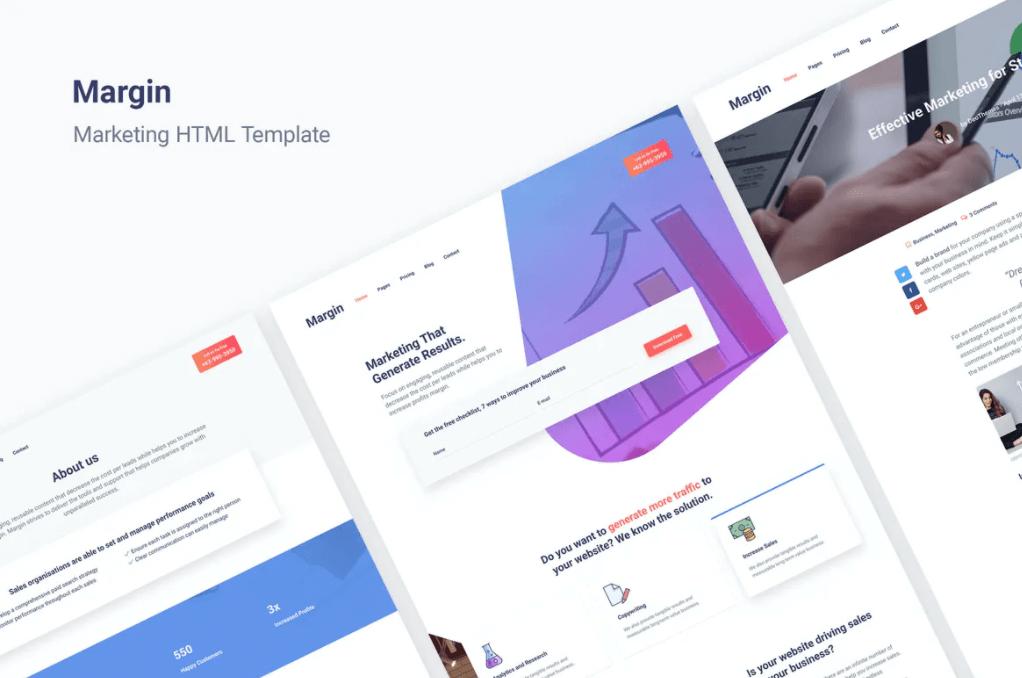 保证金  营销HTML网页模板