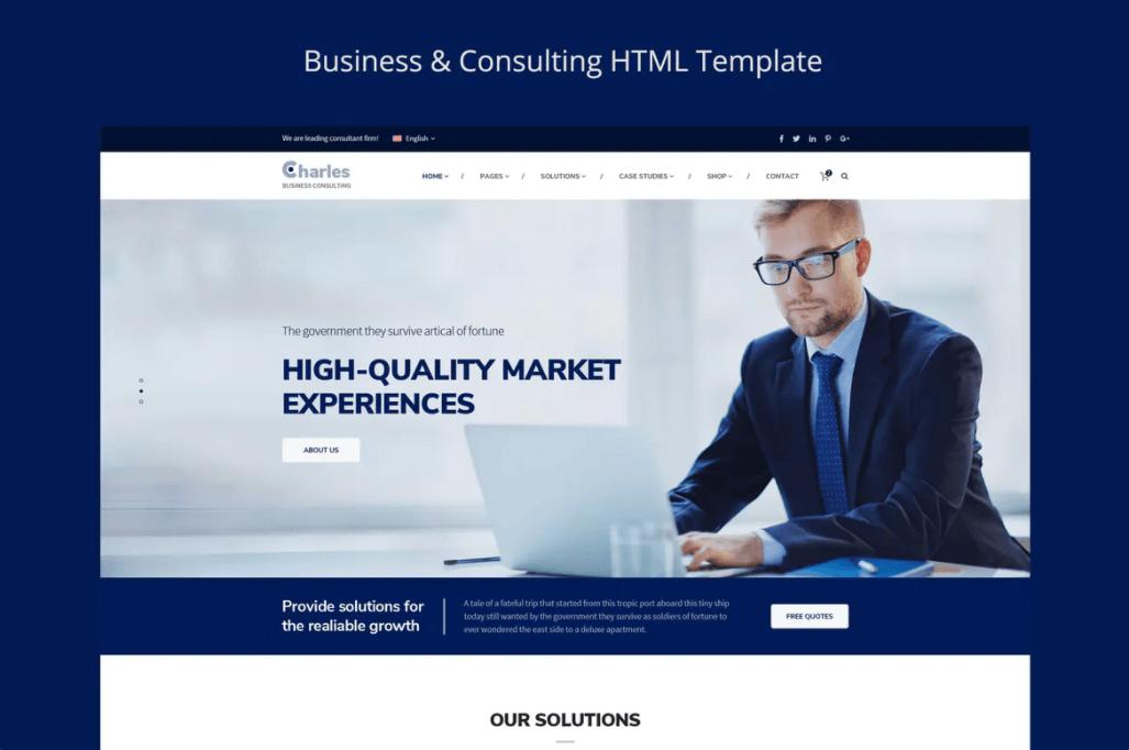 Charles-商务咨询网页HTML模板