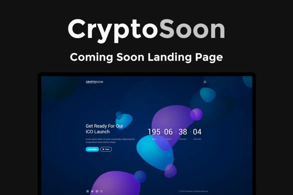 CryptoSoon-图形背景网页html模板