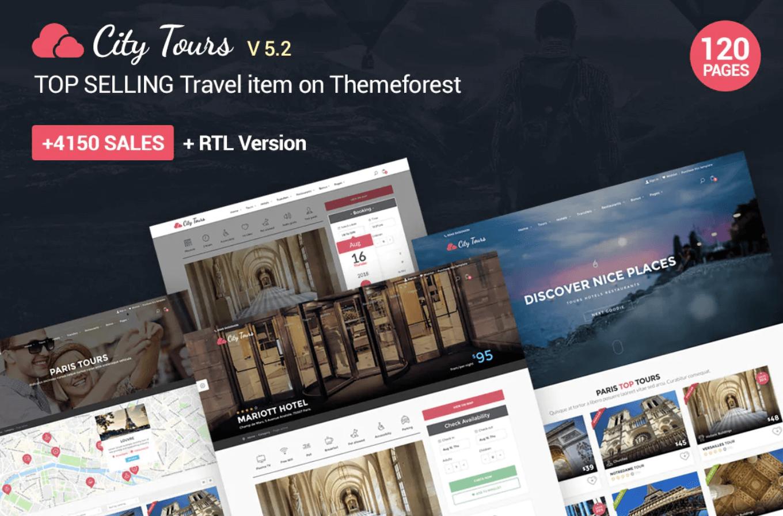CityTours-城市游览,旅游门票和指南网站html模板