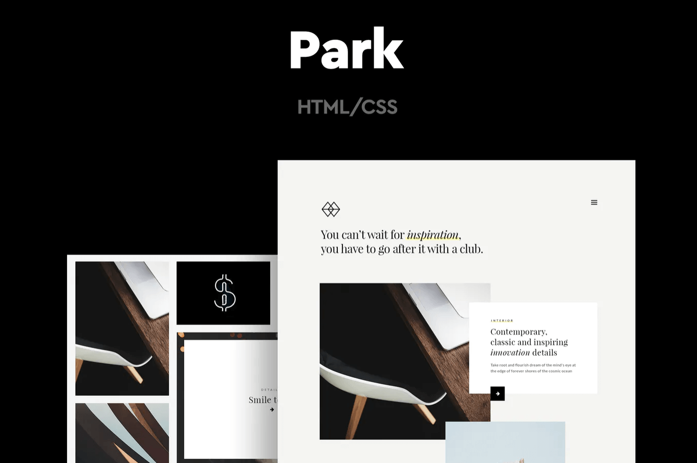 公园-广告作品集网页前端HTML模板