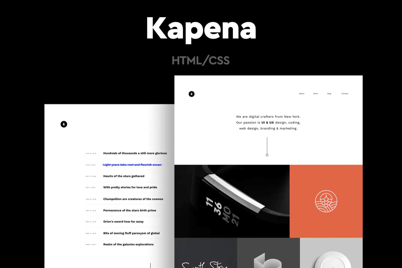 Kapena-自适应组合作品展示网页HTML模板