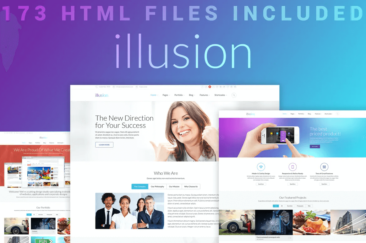错觉-高级多用途商务网站HTML模板