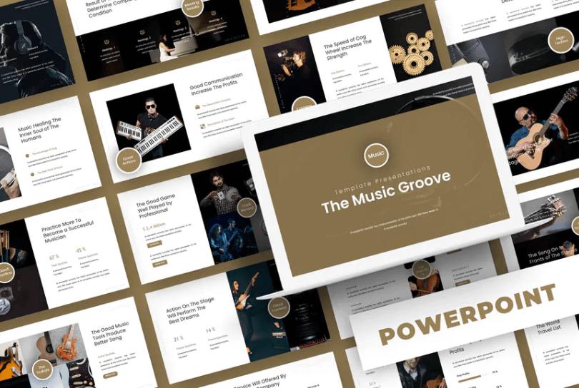 音乐凹槽-Powerpoint模板