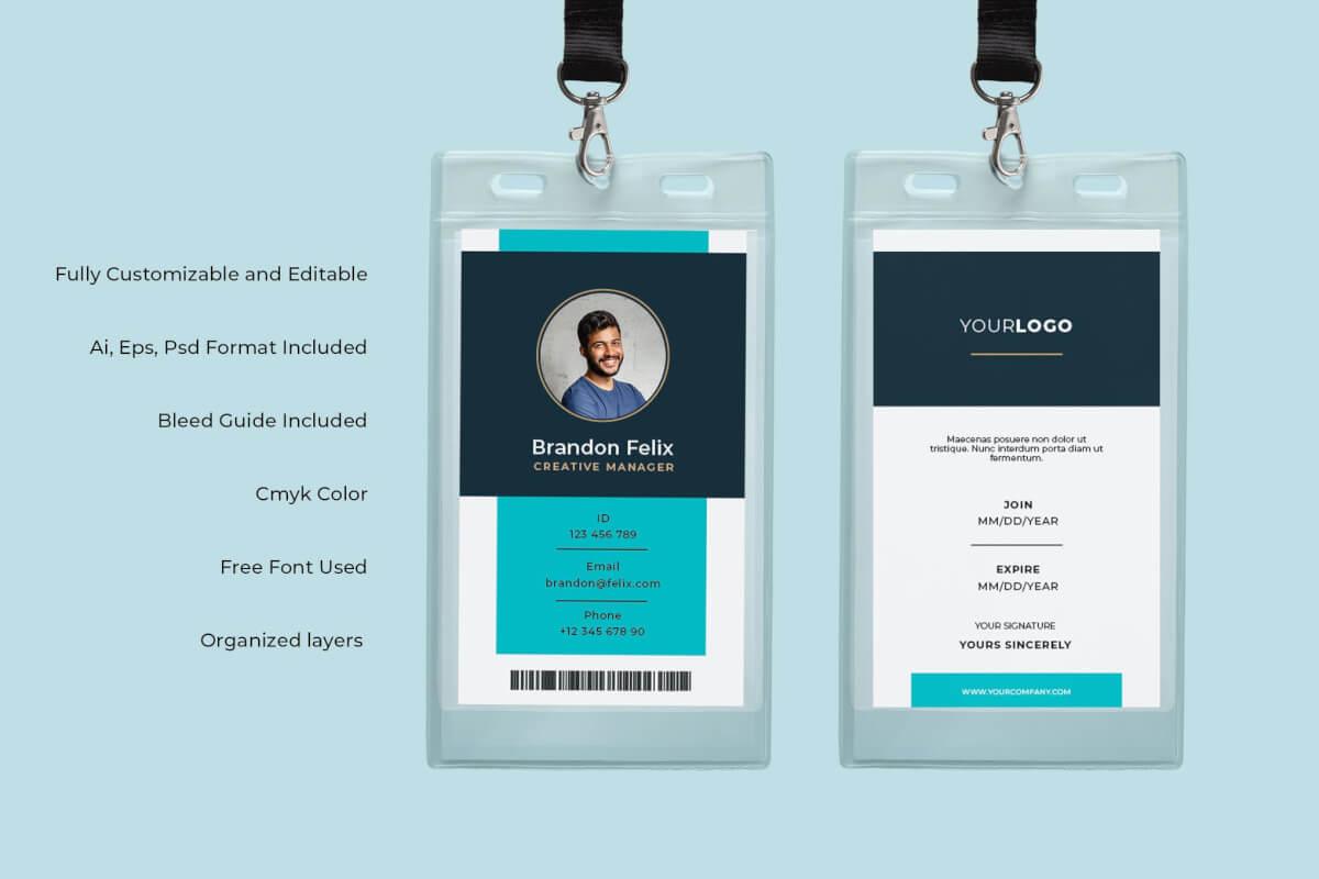 身份证卡Vol.1工作牌设计模板下载