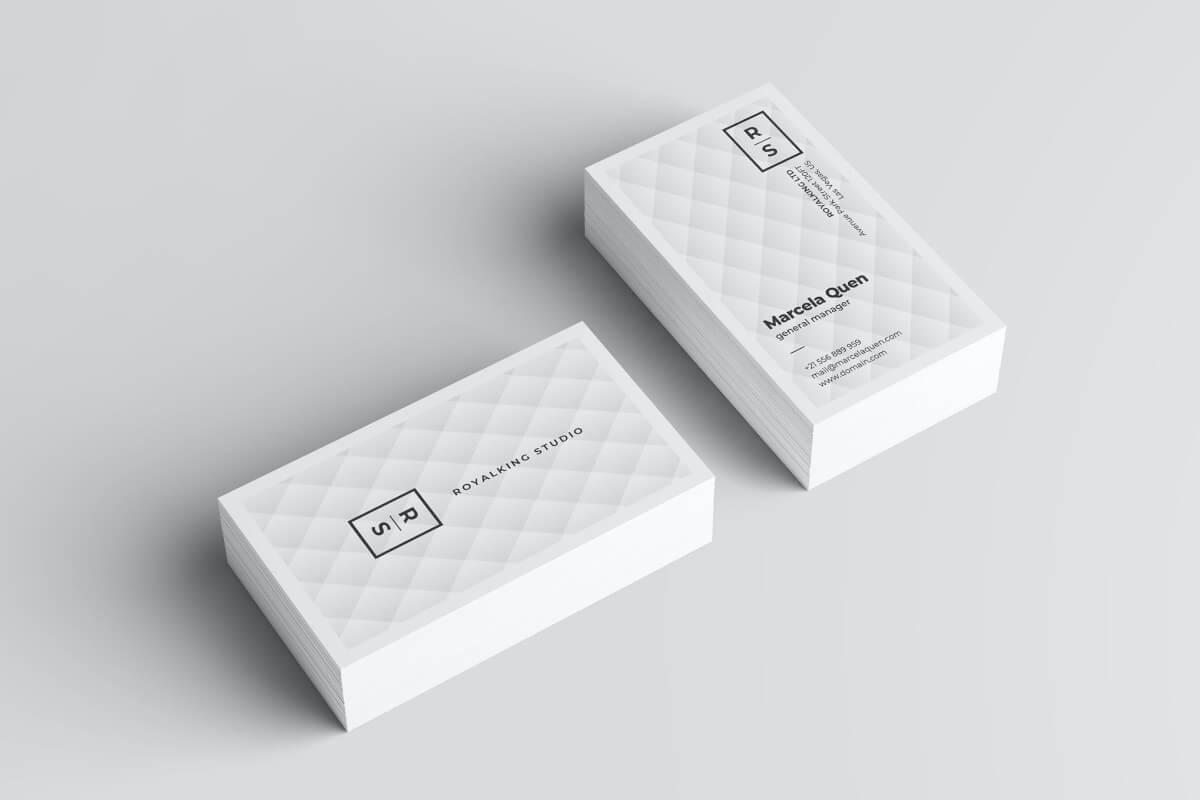 菱形背景商务名片设计模板素材下载