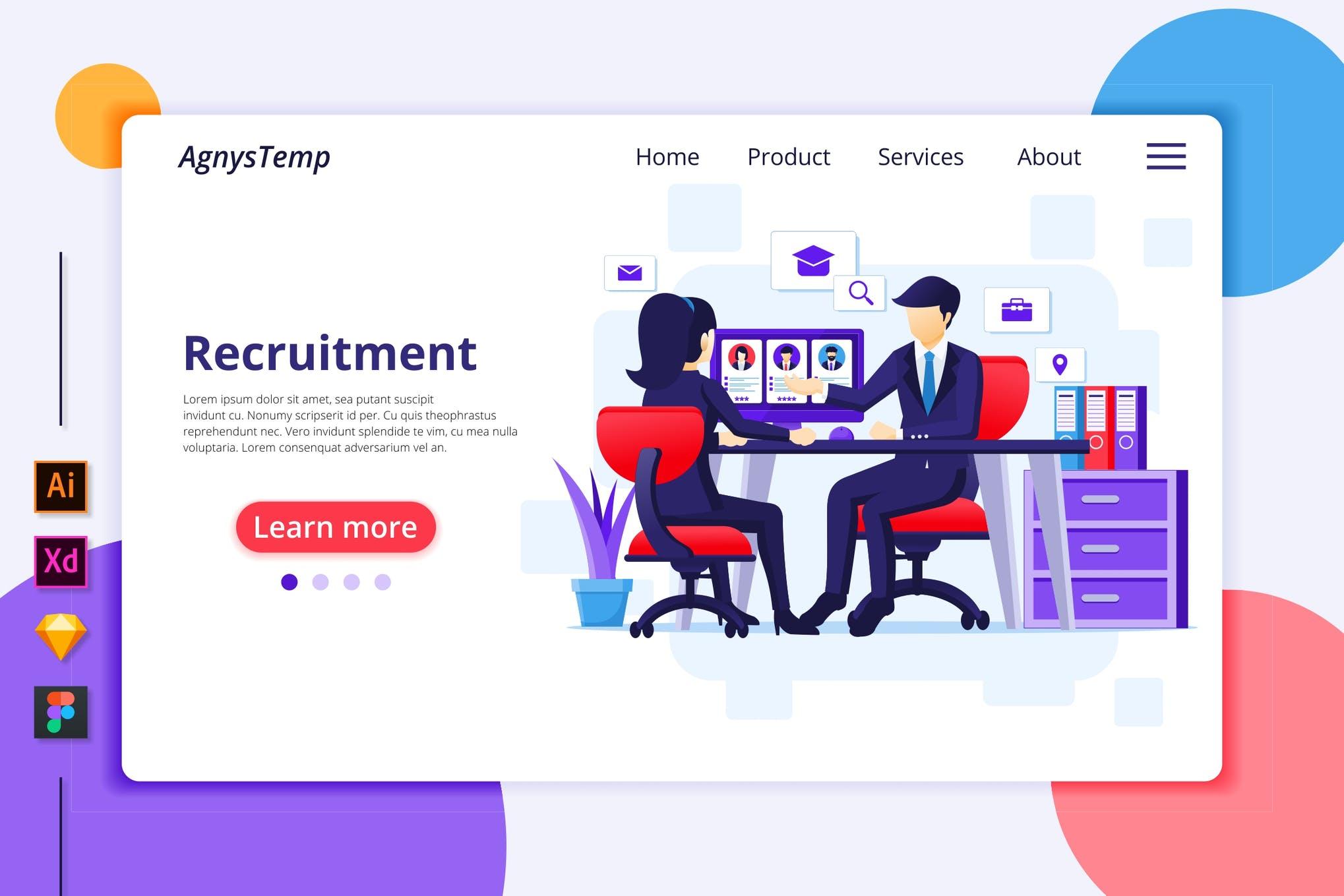 Agnytemp-招聘插图v4 网页模板banner图素材下载