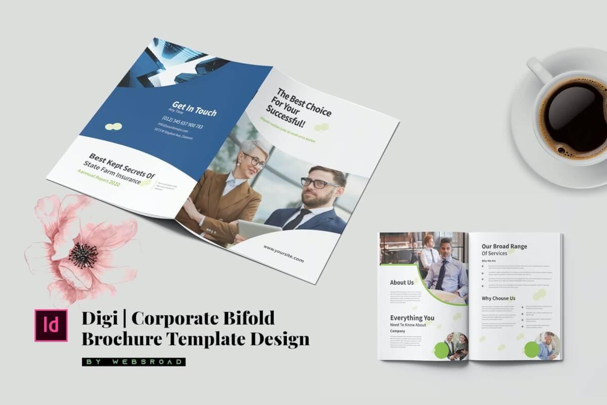 Digi   企业双重宣传册模板设计