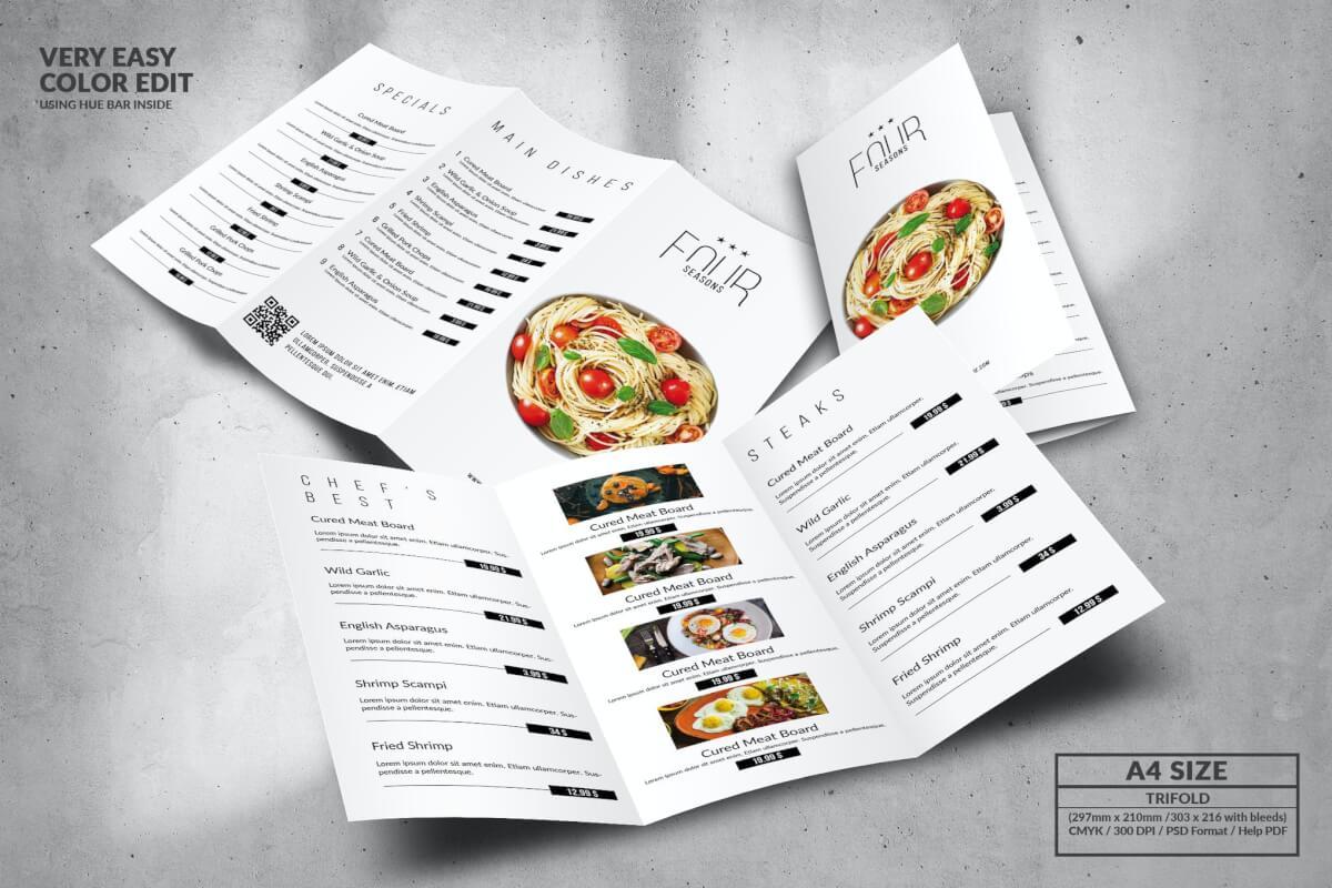 典雅美食菜单设计模板A4灯笼