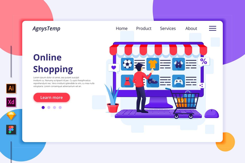 Agnytemp-购物图v6 网页banner插图ui模板素材下载