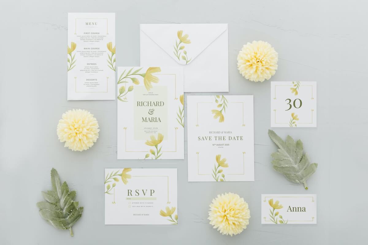 黄花花园-结婚请柬模板