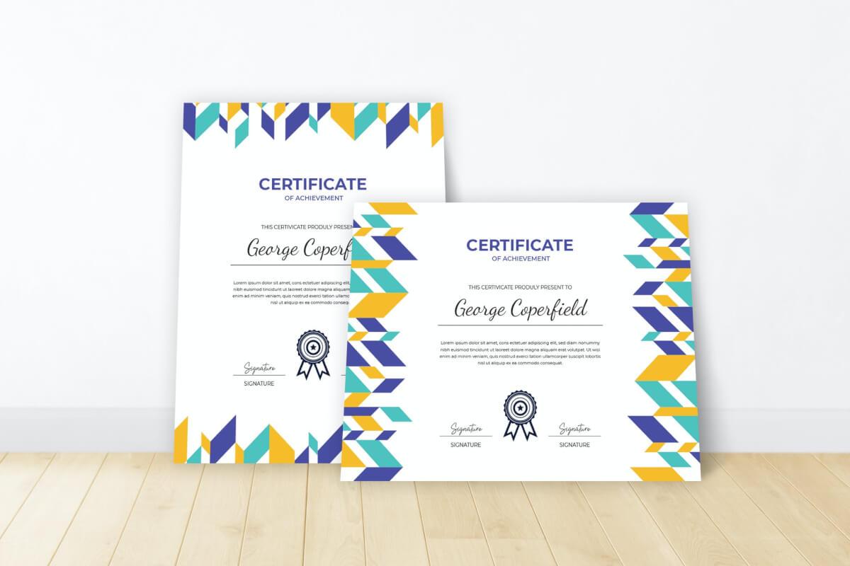 证书模板素材免费下载