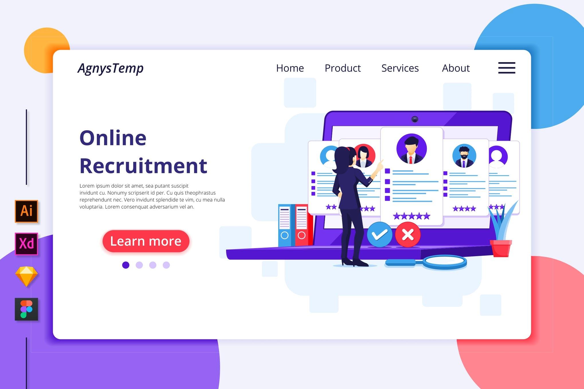 Agnytemp-招聘插图v6 网页模板banner图素材下载