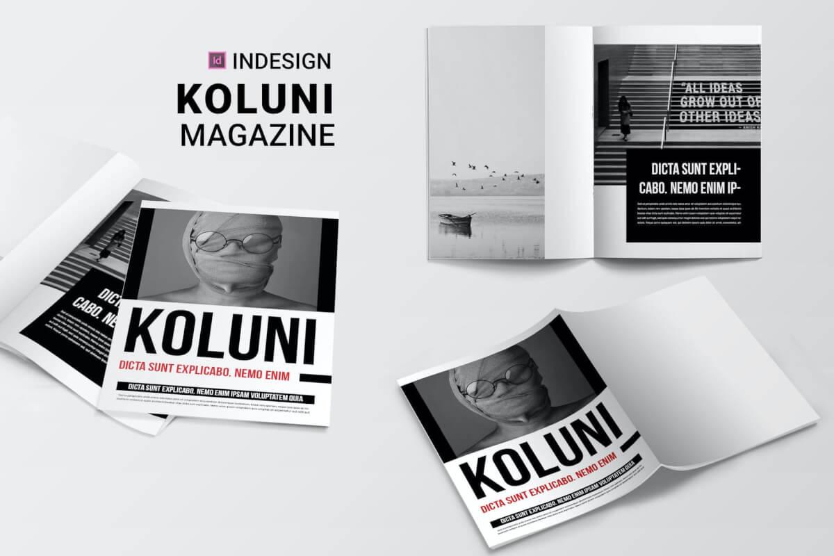 科鲁尼| 杂志排版版式设计模板下载