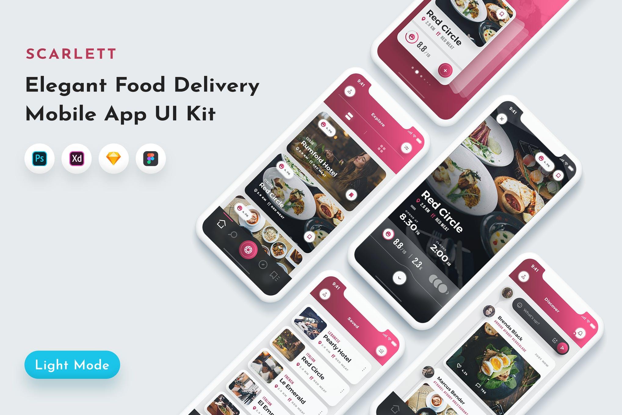 斯嘉丽食品应用程序UI套件UI素材下载