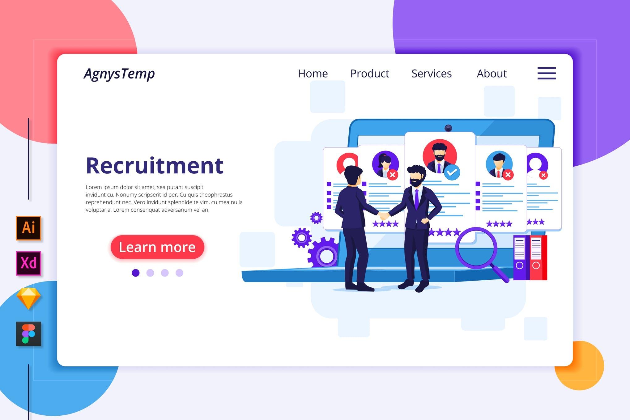 Agnytemp-招聘插图v2 网页模板banner图素材下载